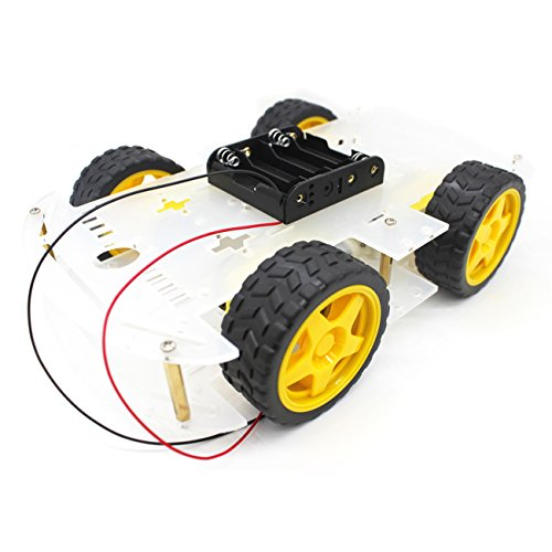YIKESHU 4-Rad Roboter Smart Car Chassis Kits Auto Modell mit Speed Encoder für Arduino