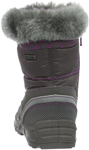 Richter Kinderschuhe Freestyle, Bottes et bottines à doublure chaude fille Gris - Grau (steel/chrysant 6501)
