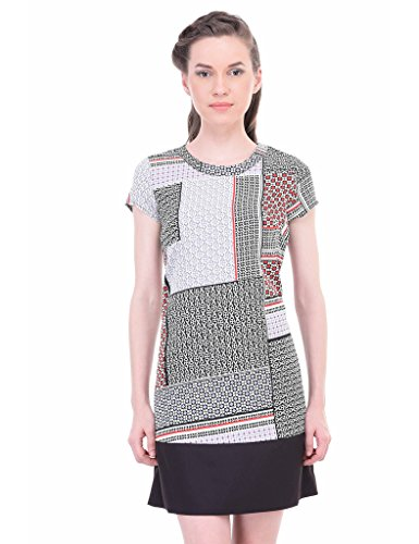 Oxolloxo Women printed shift dress  available at amazon for Rs.399