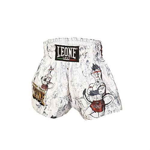 Pantaloncini bambino thai-kick Leone Ramon ABJ01 (Bianco, L)