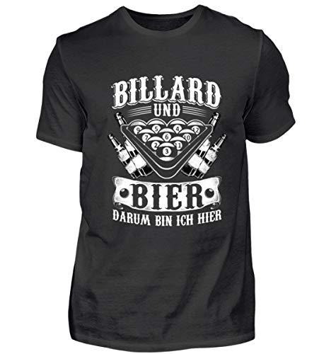 Billard und Bier, darum Bin ich Hier - Billard/Pool / Snooker/Billardspieler - Herren Shirt