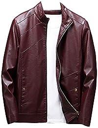 Veste Blazer Homme Casual Manches Longues Moto Blouson en Similicuir Slim  Fit 921d1d8e3f2