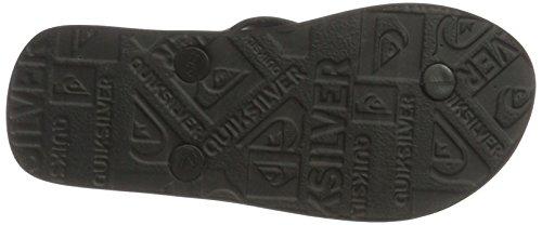 Quiksilver Java Wordmarkyt, Tongs Garçon Noir (Black/black/white)