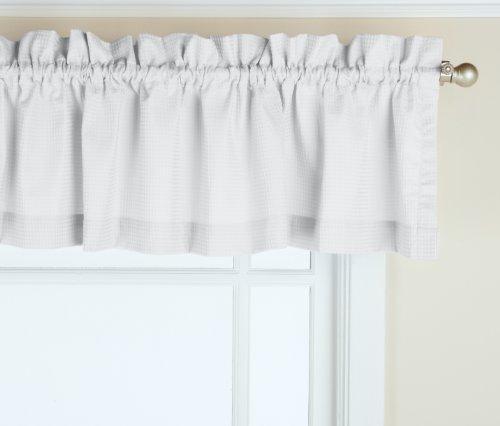 Gpd newport 152,4cm x 30,5cm rod pocket valance finestra tenda, white, 30,5 (12