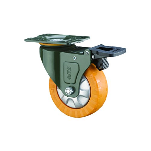 SUPO 40mm Single Ball Bearing Medium Duty Swivel Plate + Total Brake Caster Wheel  available at amazon for Rs.200