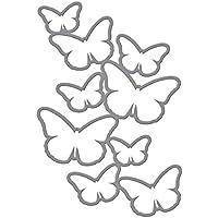 Spellbinders–Troqueles, diseño de Mariposas en Cascada, acrílico