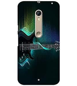 PrintDhaba Guitar D-2885 Back Case Cover for MOTOROLA MOTO X PURE EDITION (Multi-Coloured)