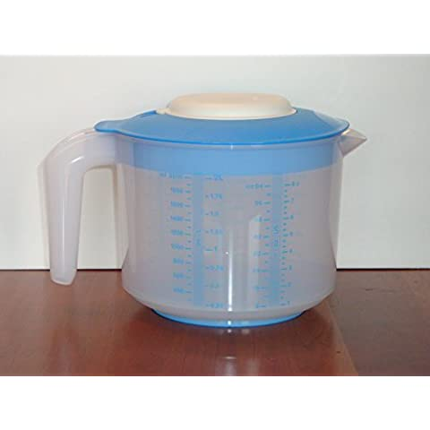 Tupperware Mix-N-Stor Pitcher 2Qt with Raindrop Blue Seal by Tupperware by Tupperware