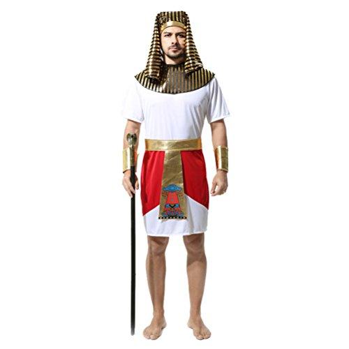 Kostüm Pharao Halloween - Zhhlaixing Ägyptischen Pharao Halloween Herren Kostüm Erwachsenenkostüm Halloweenkostüm Karnevalskostüm Jumpsuit