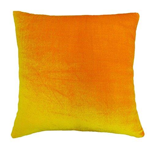 Indian Kopfkissenbezug solid orange Hauptdécor Wurfkissen Samtbezug - Grösse wählen (Wurfkissen Orange)