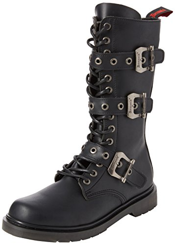 Demonia Defiant-303, Stivali Uomo Black (Blk Vegan Leather)