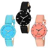 casera Smartwatch Girls' Watch (Peach, Blue & Black Dial Multicolored Strap)