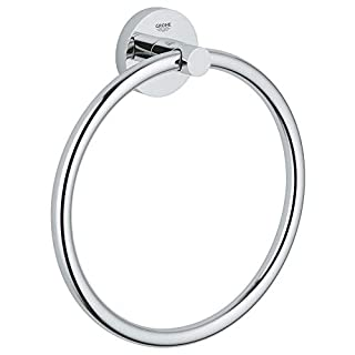 GROHE 40365001 Essentials Towel Ring Silver