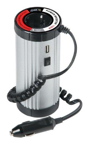 SUMEX Pwi150A - Convertidor/Transformador De Corriente De 12V A 220/240V, Incluye Salida USB, para Cargar Portátiles, TV, Móviles, Neveras, 150W