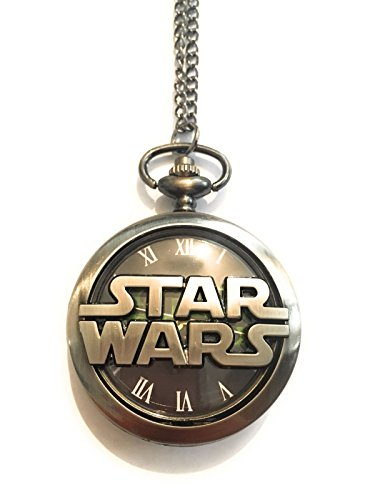 kette Uhr Metall Nickel Free funktionierenden Star Wars Star Wars Darth Vader Jedi Luke Skywalker Han Solo Erwachen Kraft Disney Logo Saga Cosplay ()