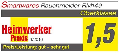 Smartwares TÜV Rauchmelder / Brandmelder, DIN EN 14604, reinweiß, RM149_1J - 3