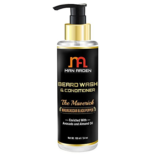 Man Arden Maverick Beard Wash Shampoo & Conditioner (With Avocado & Almond Oil, No Sulphate/Paraben), 100ml