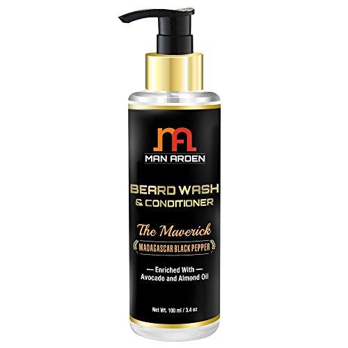 Man Arden Maverick Beard Wash Shampoo & Conditioner (With Avocado & Almond Oil, No Sulphate/Paraben), 100ml