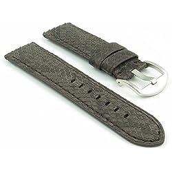 DASSARI Outlaw Brown Python Genuine Snake Skin panerai Style Watch Band size 22mm