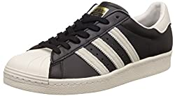 adidas Originals Mens Superstar 80S Cblack, Ftwwht and Goldmt Leather Sneakers - 11 UK/India (46 EU)