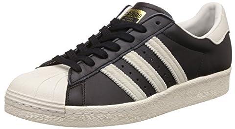 adidas Unisex-Erwachsene Superstar 80s Turnschuhe, Schwarz (Cblack/Ftwwht/Goldmt), 39 1/3 EU