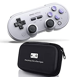 Geek Theory 8Bitdo SN30 Pro Bluetooth Controller (SN Edition) Bundle – inkl. Tragetasche – für Nintendo Switch, PC, Mac OS & Android