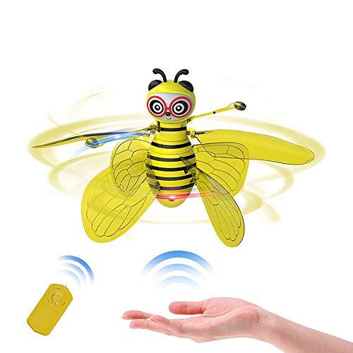 m Bee LED-Licht Flying Toys Elektrischer Infrarotsensor Handgesteuertes Hubschrauber für Kinder, Jugendliche Fun Spielzeug ()