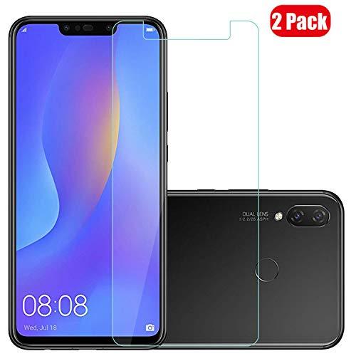 Voviqi Huawei P smart+ / Huawei nova 3i Panzerglas, 9H verbesserte gehärtetes Glas Folie [Blasenfrei] [Anti-Fingerabdruck] Bildschirmschutzfolie für Huawei P smart+ / Huawei nova 3i, 2 Stück