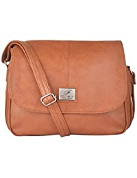 Fostelo Women's Sling Bag (Tan) (Fsb-282)