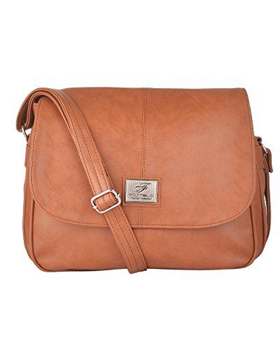 Fostelo Women's Stylish Shoulder Bag (Tan) (FSB-282)