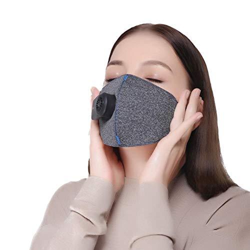 Urben Life Máscaras A Prueba De Polvo Eléctricas Anti Polen Alergias Purificadores De Aire Respiradores Máscara para Polvo con Válvula De Exhalación PM2.5 Filtros para Ciclismo En Marcha