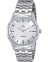 Titan Analog Silver Dial Men's Watch-NK1584SM03