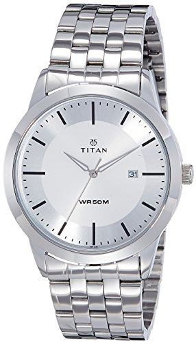 41gK vl8VpL - Titan 1584SM03 Mens Silver watch