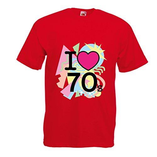 Männer T-Shirt I love 70's - vintage style clothing (Medium Rot (Beatles Kostüm Girl)