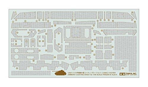Dickie - Tamiya 300012661 - Plastikmodellbau 1:48 Zimmerit Dekor Panzer IV Ausf H