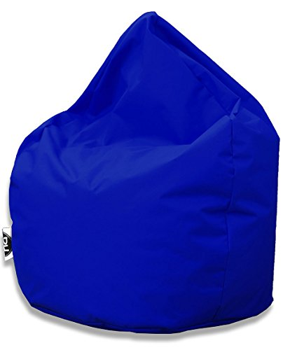Kissenportal24 Sitzsack Tropfenform für In & Outdoor | XXL 420 Liter - Blau - in 25 versch. Farben und 3 Größen