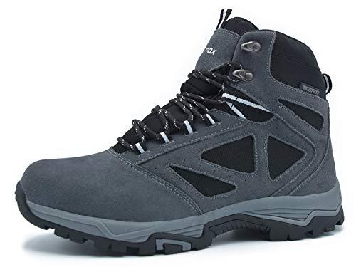 Scarpe da Trekking Uomo Donna Alte Scarponi da Montagna Invernali Impermeabili Leggero e Traspiranti Scarponcini da Escursionismo Passeggio Arrampicata Sportiva All'aperto Uomo-Grey-8