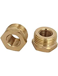 Tradico® 3/8BSP Male X 1/8BSP Female Thread Brass Hex Bushing Pipe Fitting 2pcs