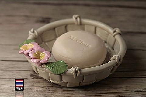 ASIBG Home Key Dish Ceramic Pastoral Fashion Hand Soap Soap Dish