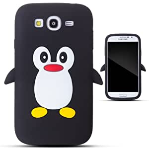 Zooky® Noir pingouin silicone Coque / Étui / Cover pour Samsung Galaxy Grand Duos I9082