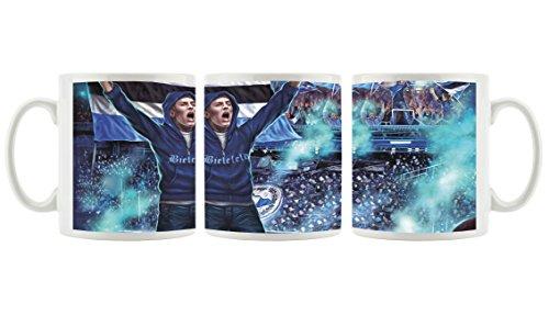 Ultras Bielefeld als bedruckte Kaffeetasse / Teetasse aus Keramik, 300ml, weiß