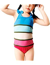 Zhhlaixing Hi-Quality Girls Swimsuit Colorful Swimwear Racerback Swimming Costume