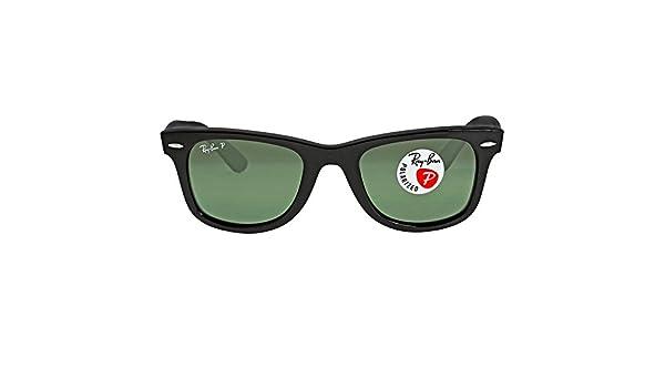 4575de10b0e Rayban Sunglasses RB2140 901 58 50-22 Original Wayfarer Classic Polarized  Natural Green Lenses Black Frame Apparel