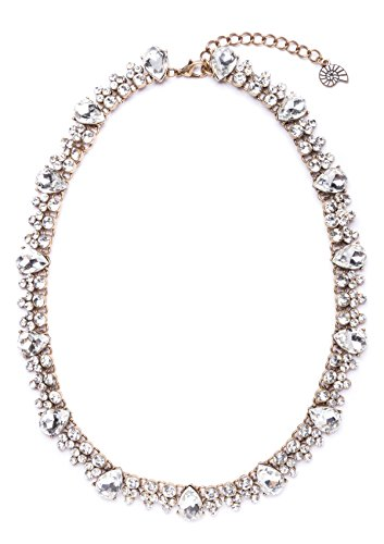Happiness-Boutique-Damen-Statement-Halskette-in-Wei-Brautschmuck-Kette-Collier-mit-Strass-in-Klarfarbe-nickelfrei