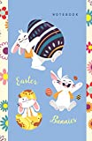 Notebook Easter Bunnies: Whimsical Easter Themed Notebook for Kids in Half-Letter Size (Lined Soft Cover), Ideal for Gift / Present