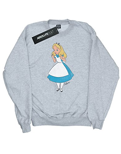 Disney Femme Alice In Wonderland Classic Alice Sweat-Shirt Heather Gris