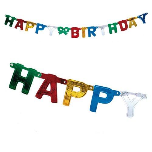 Buchstaben-Girlande Happy Birthday 152 cm