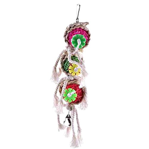 Zerama Juguetes de la Bola Loro Mascotas mordeduras de Aves Subida Chew Juguetes Colgantes Cockatiel Parakeet El Columpio Loro Jaula Juguetes de Aves