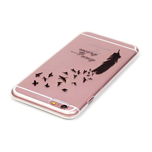 Beiuns coque en silicone pour Apple iPhone 6 (4,7 pouces) Housse Coque - N183 Plume au vent N185 Plume envolant