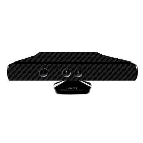 Skinomi TechSkin-Schwarz Carbon Faser Folie Shield & Displayschutzfolie für Microsoft Xbox 360KINECT + lebenslange Ersatz -